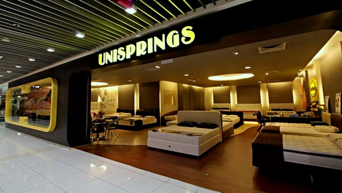 Unisprings mattress store IMM Singapore.