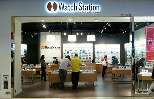 Watch Station International store IMM Singapore.