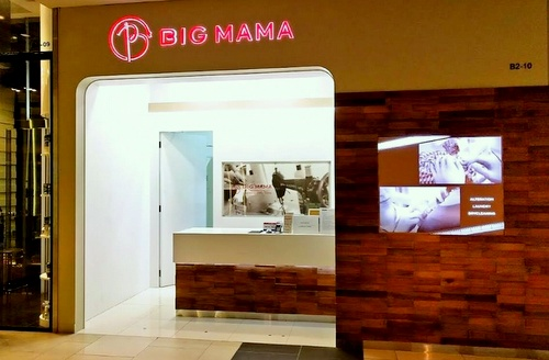 BIG MAMA laundry and dry cleaning service Raffles City Singapore.