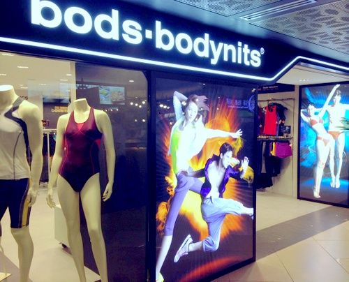 bods.bodynits sportswear shop Chinatown Point Singapore.