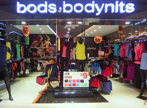 bods.bodynits shop Plaza Singapura Singapore.