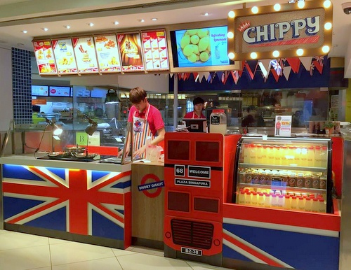 Chippy British take away restaurant Singapore.