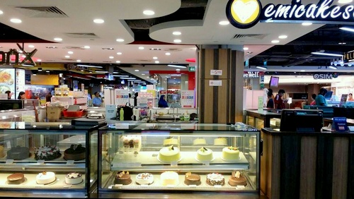 Emicakes bakery Causeway Point Singapore.