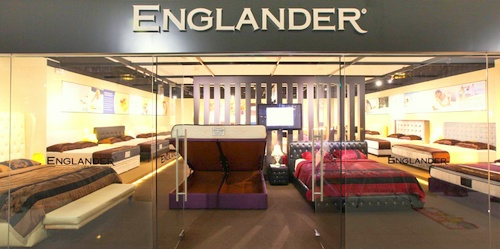 Englander mattress store The Furniture Mall Singapore.