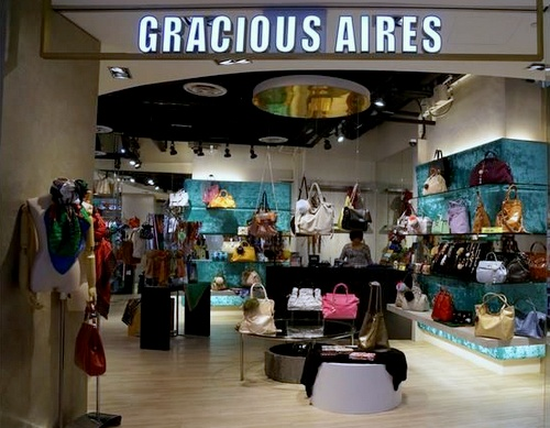 Gracious Aires bag store Plaza Singapura Singapore.