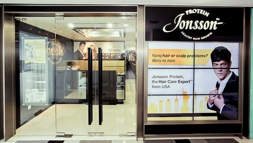Jonsson Protein hair loss treatment centre Tiong Bahru Plaza Singapore.