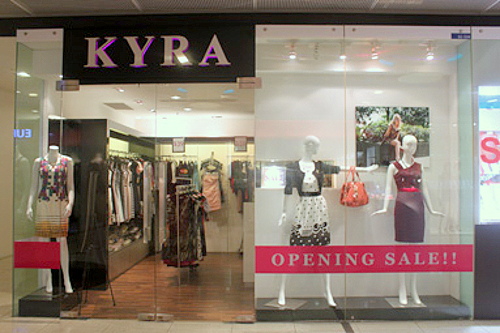 Kyra clothing store Marina Square Singapore.