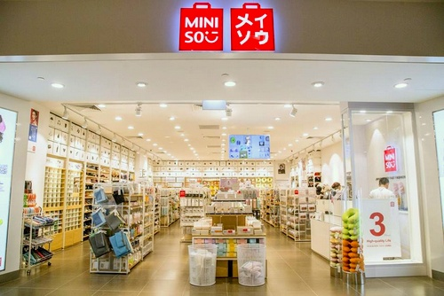 Miniso store Great World City Singapore.