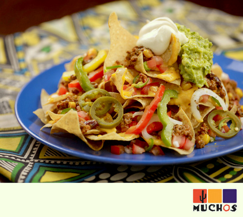 Beef Nachos with Guacamole and Sour Cream at Muchos Mexican Restaurant Singapore.