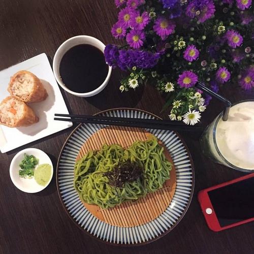 Cold Green Tea Soba Noodles dish Nana's Green Tea cafe-restaurant The Atrium @ Orchard Singapore.