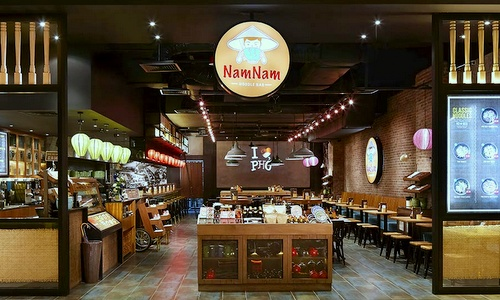 NamNam Noodle Bar Vietnamese Restaurant Suntec City Singapore.
