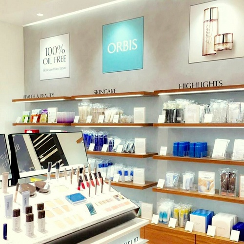 Orbis beauty shop-in-shop Robinsons Raffles City Singapore.