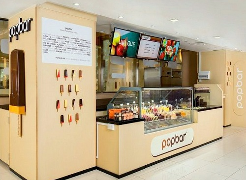 Popbar ice cream shop Plaza Singapura Singapore.