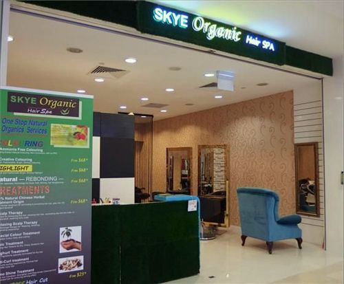 Skye Organic Hair Salon at Sembawang Shopping Centre in Singapore.
