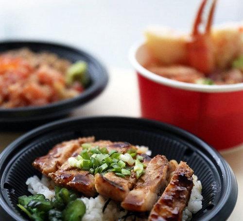 Teppei Syokudo Japanese restaurant's Kurobuta Pork Don meal, available in Singapore.