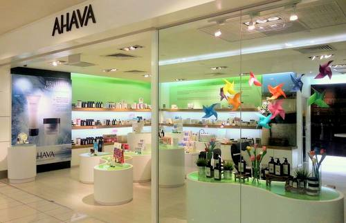 AHAVA beauty store in The Centrepoint mall in Singapore.