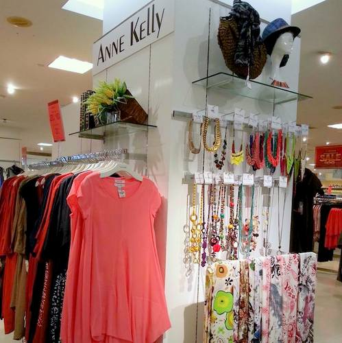 Anne Kelly womenswear, available in Singapore.
