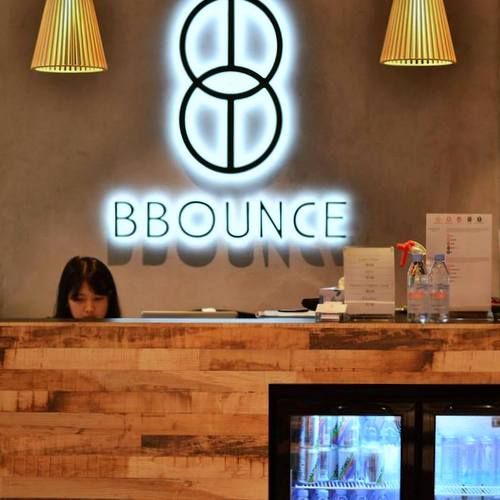 BBounce Studio fitness centre at The Centrepoint mall in Singapore.