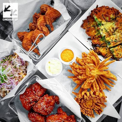 Chicken Up Korean fried chicken, available in Singapore.