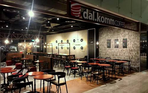 dal.komm COFFEE cafe at Marina Square mall in Singapore.