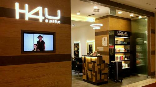 H4U Salon hair salon at The Centrepoint shopping centre in Singapore.