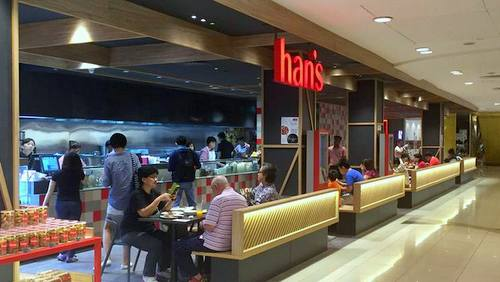 Han's Cafe & Cake House restaurant in Singapore.