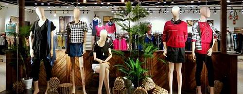 Lalu clothing store at Marina Square mall in Singapore.