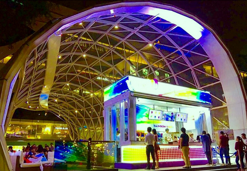 WOOW Rainbow Snow Cafe at Plaza Singapura mall in Singapore.