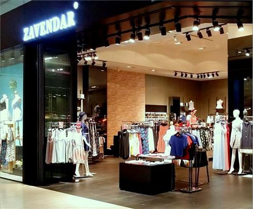 Zavendar clothing store at JCube mall in Singapore.
