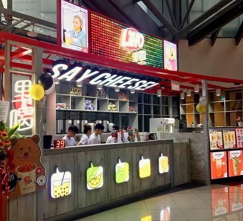 LiHO bubble tea shop at Suntec City shopping mall in Singapore.