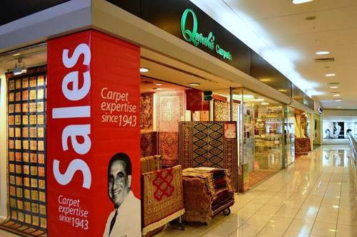 Qureshi's Carpets store at The Centrepoint shopping mall in Singapore.