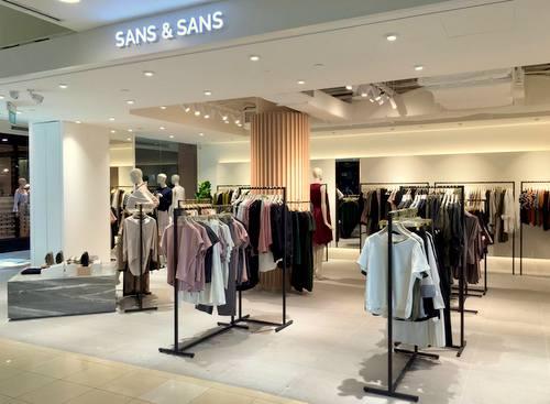 Sans & Sans clothing shop at Bugis Junction in Singapore.