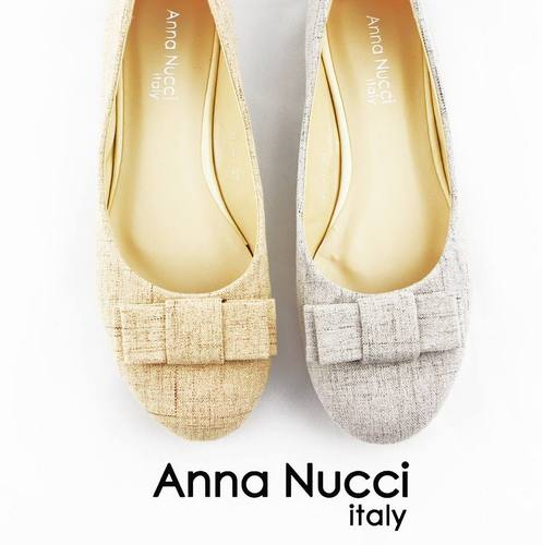 Anna Nucci Italy tweed flat shoes, available in Singapore.