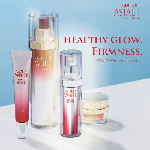 Astalift White Essence cosmetics, available in Singapore.