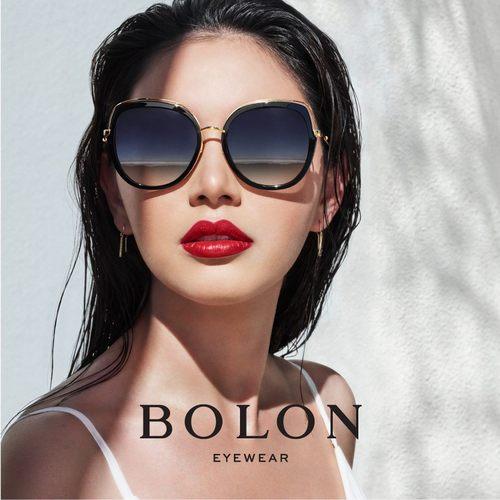 Bolon Eyewear ad featuring Davika Hoorne in Bolon Lady sunglasses.