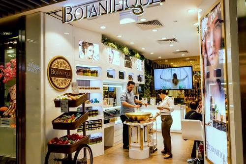 Botanique cosmetics store at Wisma Atria shopping centre in Singapore.