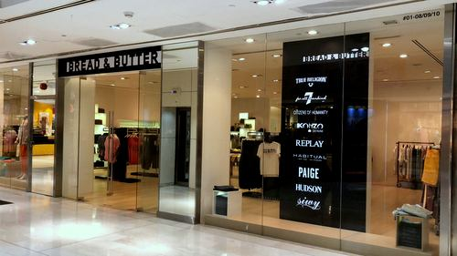 Bread & Butter clothing store at Wisma Atria shopping centre in Singapore.