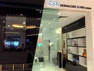 CSK Dermacare Clinic at Bedok Mall in Singapore.