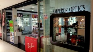Emperor Optics store at Parkway Parade shopping mall in Singapore.