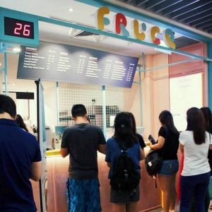 Fruce juice bar at Wisma Atria shopping centre in Singapore.