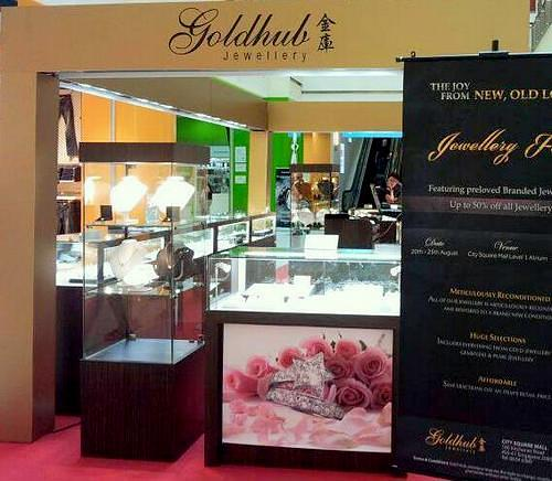 Gold Hub Jewellery shop at City Square Mall in Singapore.