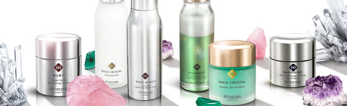 Kristals Cosmetics products, available in Singapore.