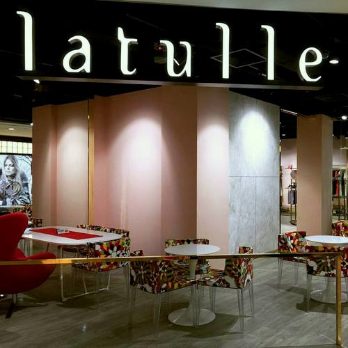 Latulle clothing store & cafe at Wisma Atria in Singapore.