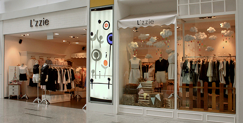 L'zzie clothing store at The Central shopping mall in Singapore.