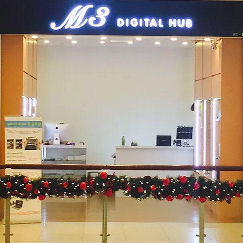 M3 Digital Hub outlet at City Square Mall in Singapore.