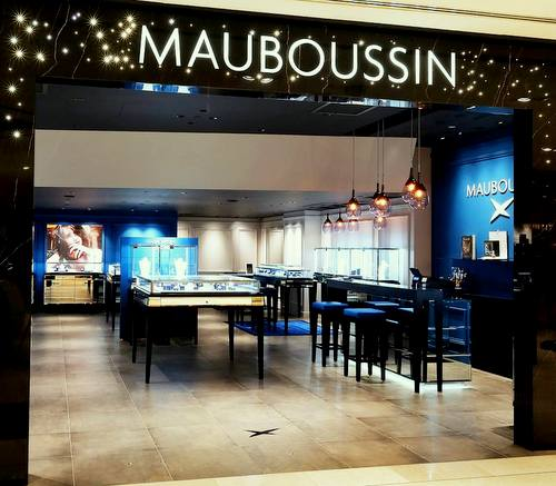 Mauboussin jewellery and watch shop at Wisma Atria mall in Singapore.