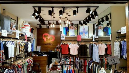 Moley Apparels clothing shop at Northpoint City mall in Singapore.