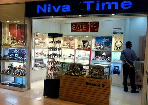 Niva Time watch shop at City Square Mall in Singapore.