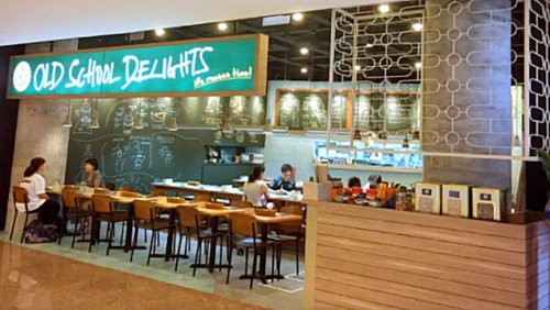Old School Delights cafe at Esplanade Mall in Singapore.