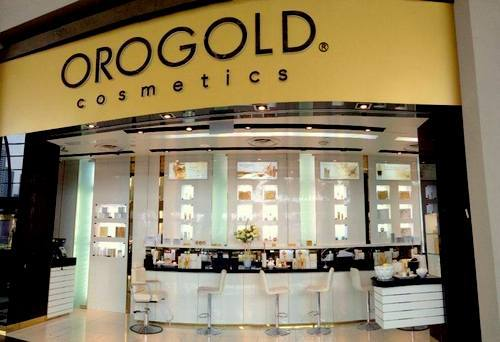 Orogold Cosmetics store at Bayfront Avenue in Singapore.